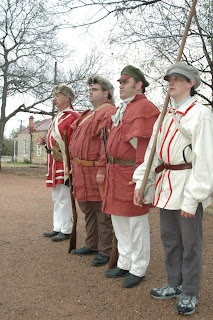 Members of the Alabama Red Rovers will march in review during Spring Break week at the Pioneer Museum in Fredericksburg, March 13 through 20, 2010. The event provides many opportunities for children to try their hand at old-fashioned fun, including frontier skills, songs, stories, and toys.