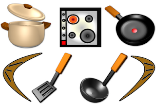Virtual kitchen, kitchen icons