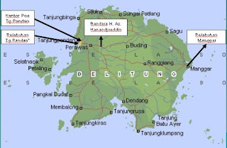 Belitung Place In The Map