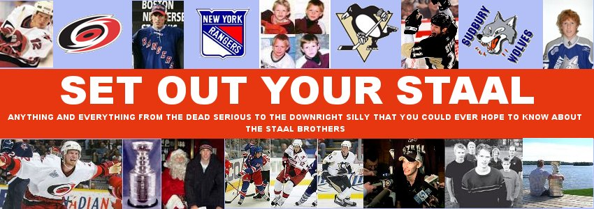 SET OUT YOUR STAAL