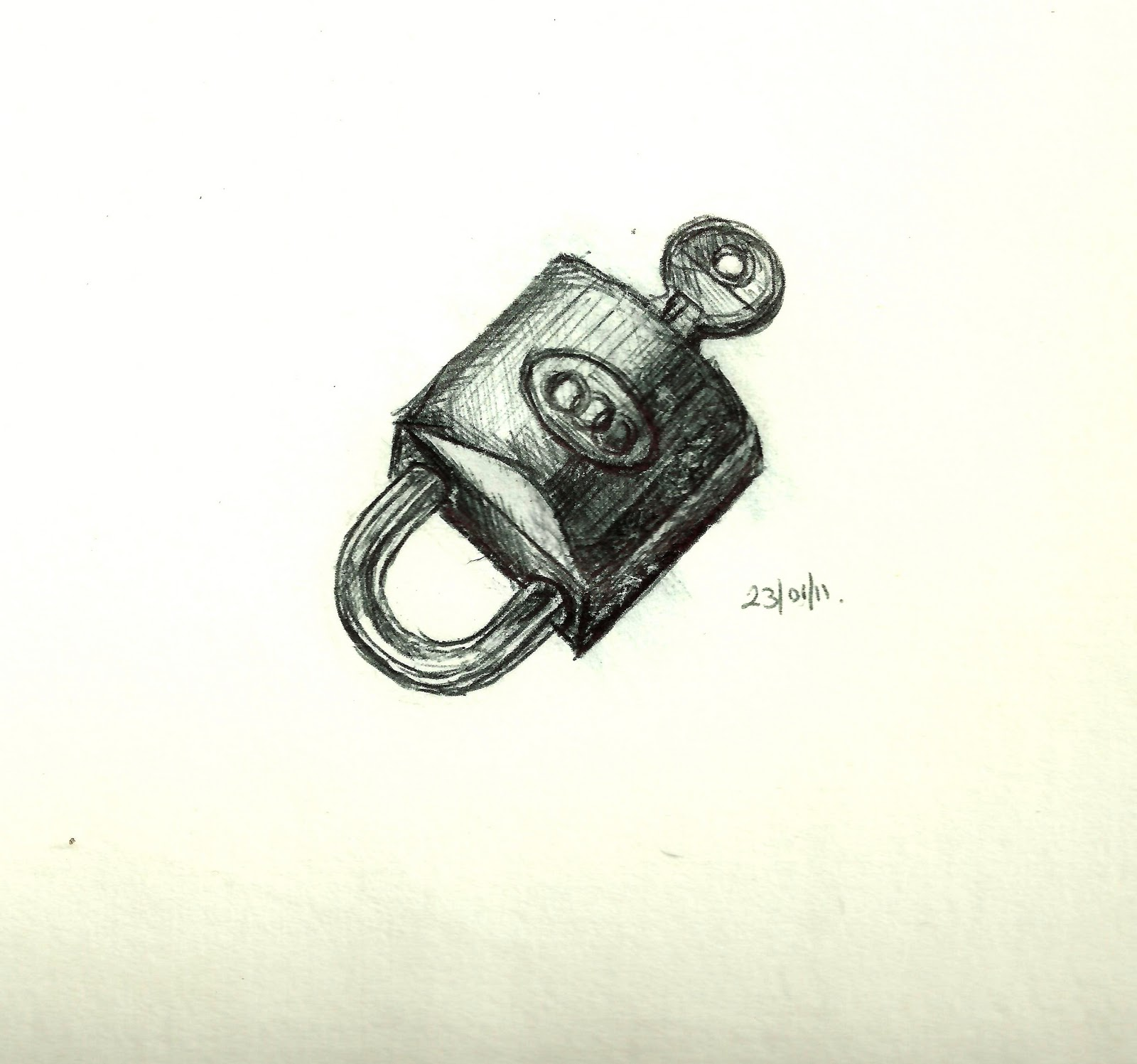 Key and lock drawings