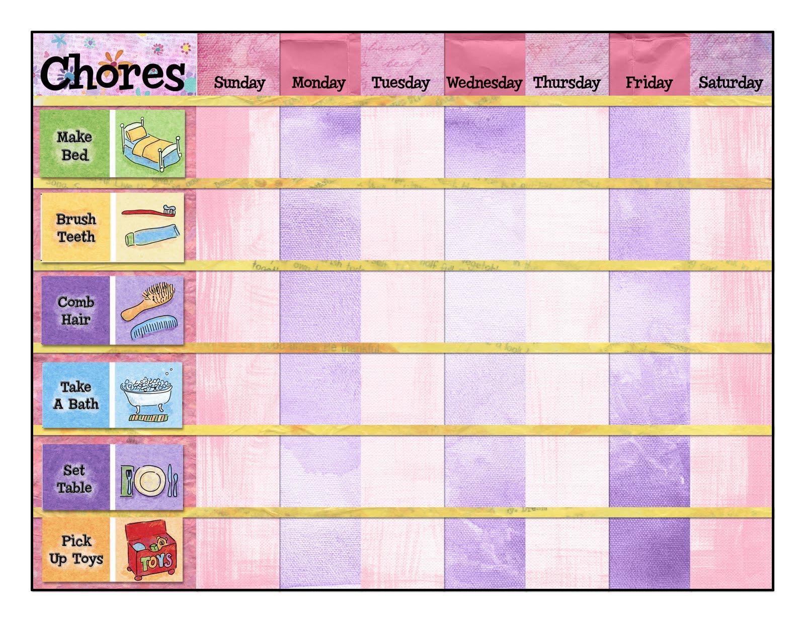 More Chore Charts