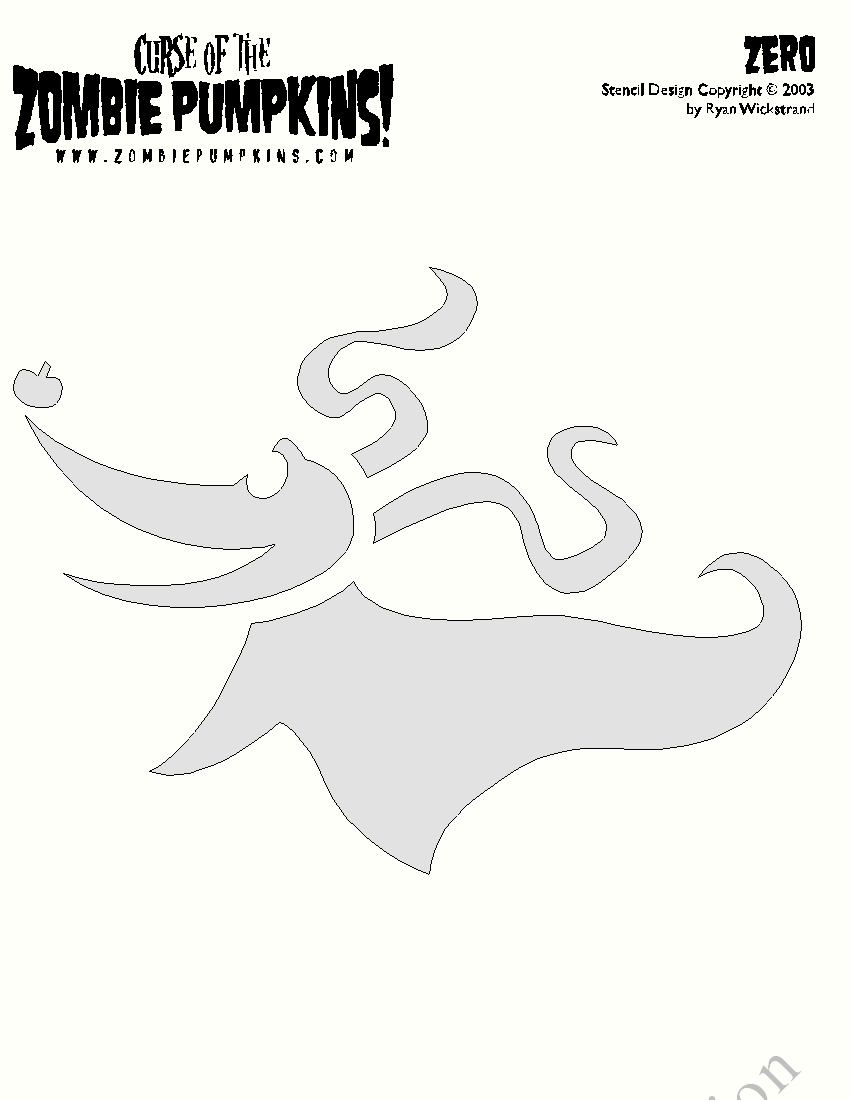 Nightmare Before Christmas Pumpkin Stencil Zero Zero nightmare before