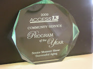 Jodie Buehler Producer of Senior Moment wins Program of the Year Award