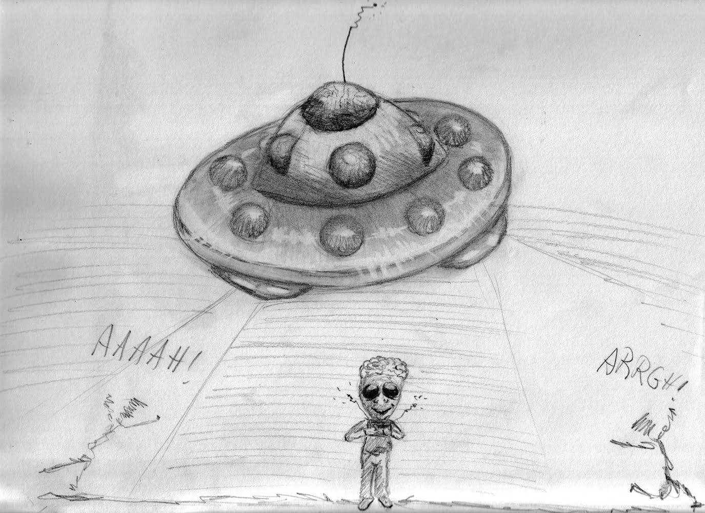 Dessin Soucoupe Volante le blogue des 100 dessins: 66/100- une soucoupe volante