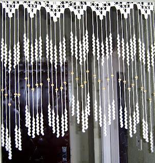 Шторы на дверь вязание крючком