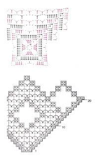Схема вязания квадратной салфетки