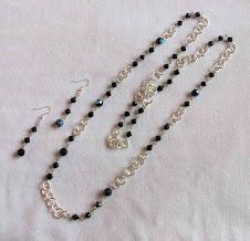 Collar Cod 2244-1 cristales y baño de plata S/ 35.00 Nuevos Soles