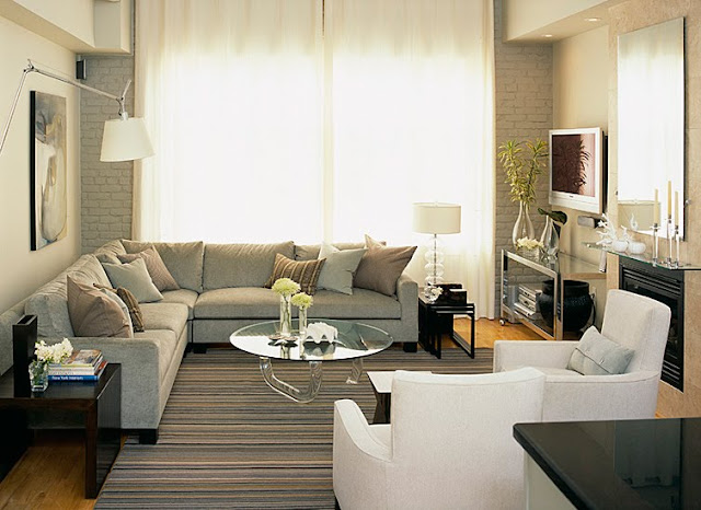 L Shaped Sectionals Lay Out For Small Living Room