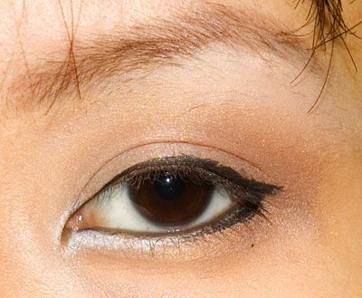 how to draw eyeliner for hidden double eyelid
