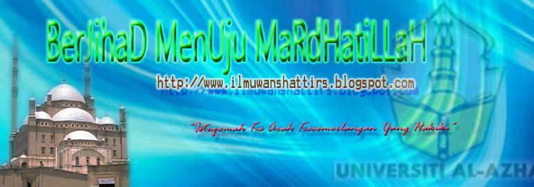 ~~ Laman Blog Us Hj Mohd Helmi As-Syatiri@shattirs~~