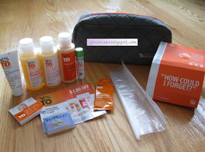 yes to carrots virgin airlines kit