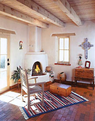 House home garden fireplace for Kiva fireplace