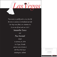 Love on the strip the perfect invitation for a vegas wedding the words