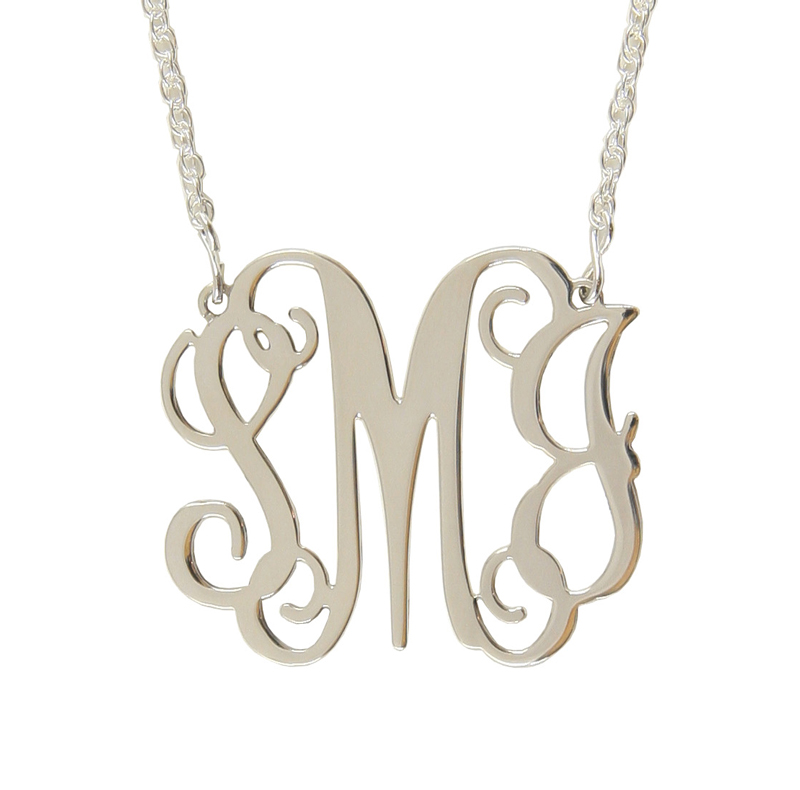 antique earrings monogram necklaces