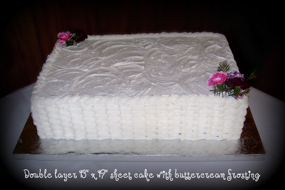 Welcome To Sweet Creations Wedding Sheet Cake