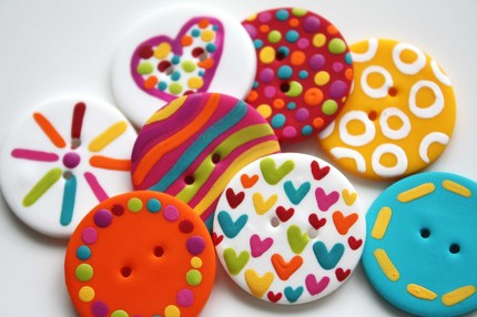 These Teen... and Colorful Handmade Polymer Clay Buttons, from Kimmieprout, ...