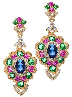 gold cz earrings