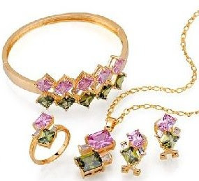gold plated cz jewelry
