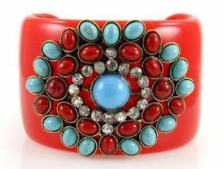 Denay's Red Bold Cuff Bracelet