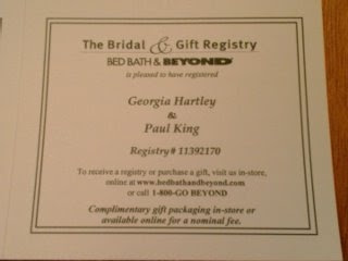 bridal registry cards