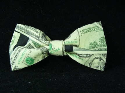 Tax day us dollar currency bow tie at gustys