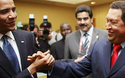 Barack Obama and Hugo Chavez