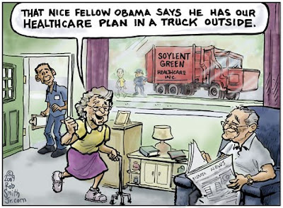 Health Care Obamacare Death Panels cartoon