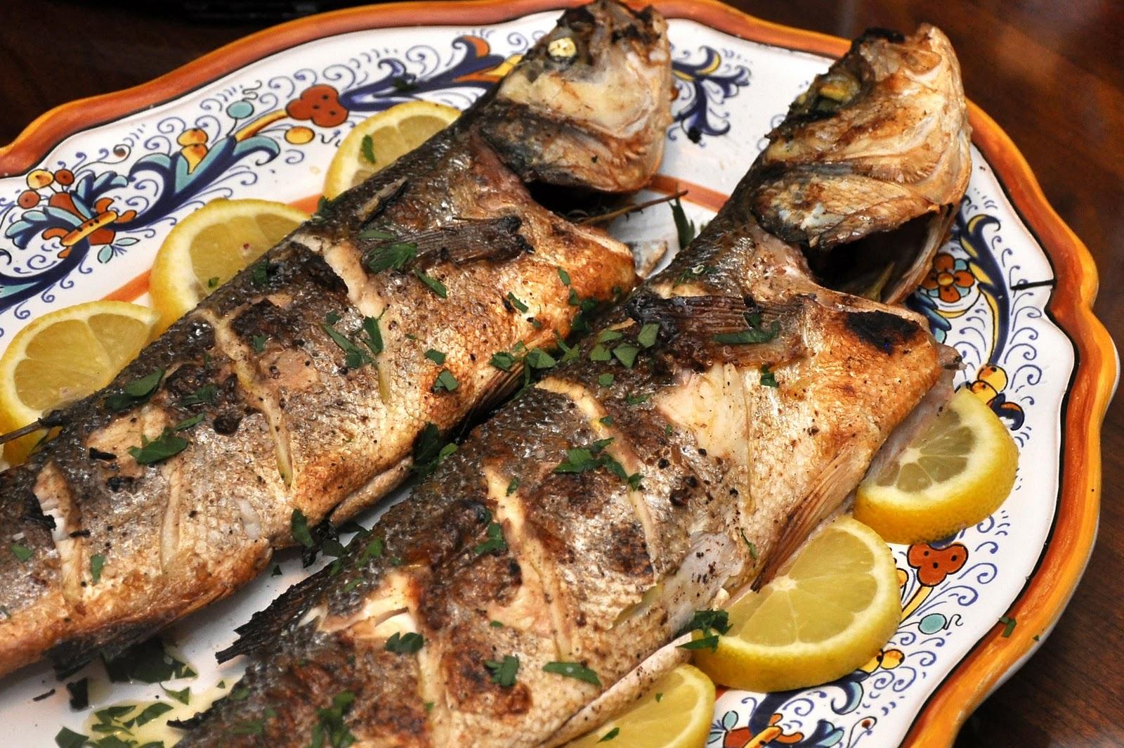 Memorie di angelina pesce alla griglia for Cooking fish on the grill