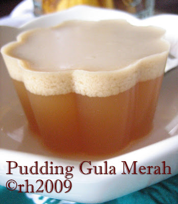 Puding Gula Merah ( Brown Sugar Pudding )