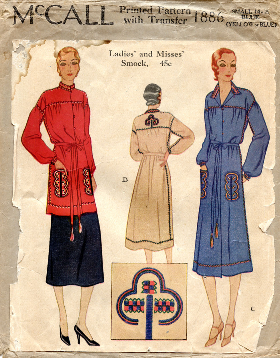 Unsung sewing patterns 2010 mccall 1886 ladies and misses smock jeuxipadfo Choice Image