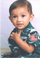 hazim in Army costume