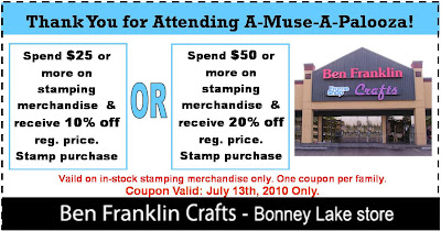 Ben franklin crafts and frame shop a muse a palooza july for Ben franklin craft store coupons