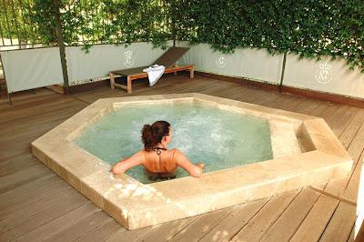 bain à remous exterieur chauffé