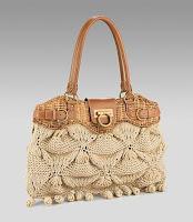 вязание спицами сумка