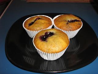 Muffins cu dulceata de afine