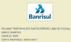 Conta para depósito no Banrisul