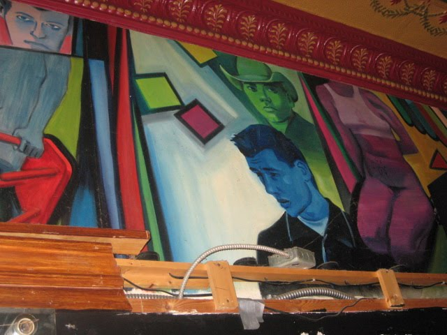 This mural makes me think that Now That's Class was probably a gay bar in ...