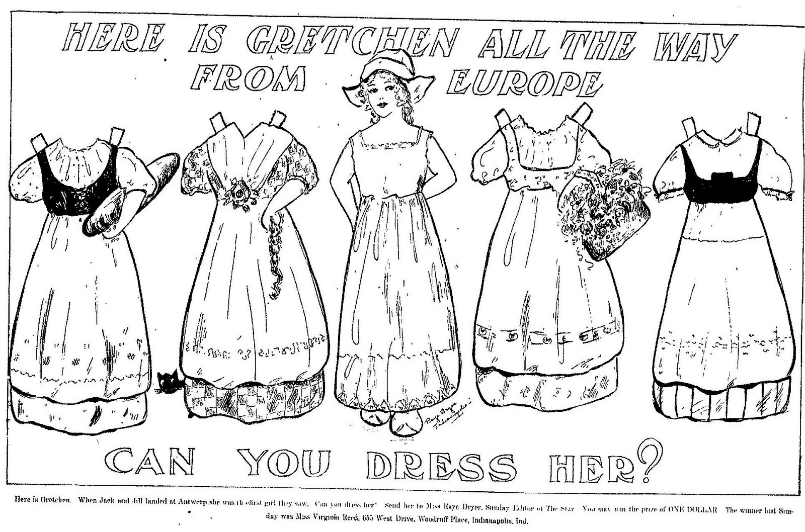 mostly paper dolls  holland coloring page and paper dolls