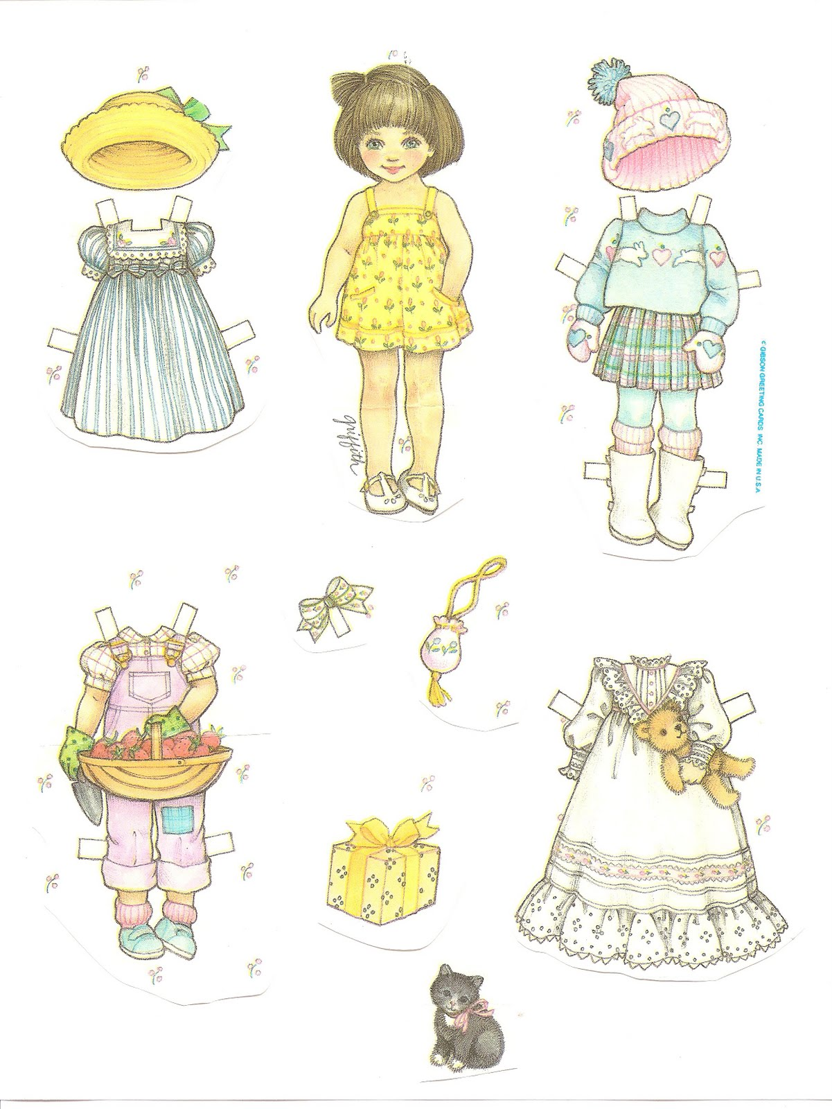 Mostly Paper Dolls: Paper Dolls from Birthday Gift Wrapping Paper