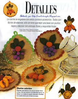 El crochet es magia en tus manos accesorios decorativos for Accesorios decorativos para cocina