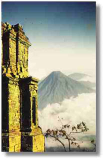 Dieng plateu, beautiful tourist attraction and vacation spot in Central Java Indonesia