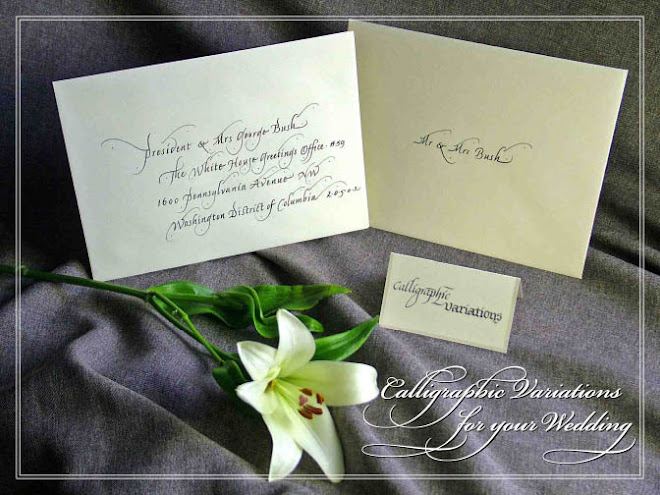 Calligraphic Variations for Your Wedding