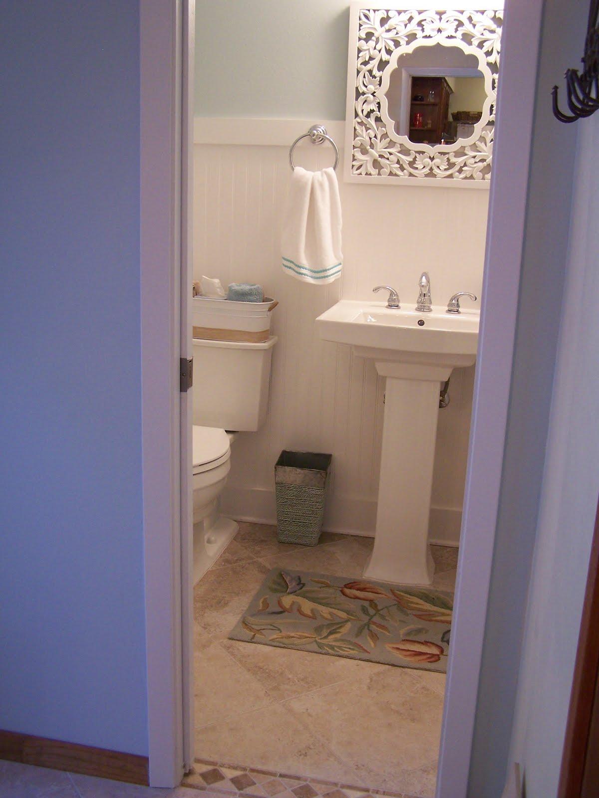 Bathroom Makeover with Pedestal Sink