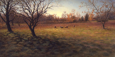 sheep painting by Lori Levin