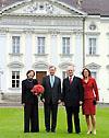 Bundespräsidenten Horst Köhler und Johannes Rau mit Ehefrauen
