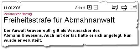 Gravenreuth verurteilt