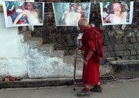Tibetan victim photos in exile