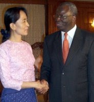 UN envoy Gambari with Aung San Suu Kyi
