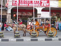 Horse-drawn andong on Malioboro